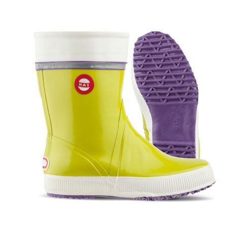 lime-tricolour right boot