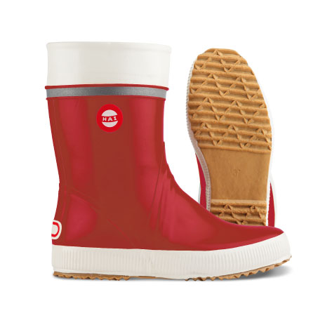 Red right boot