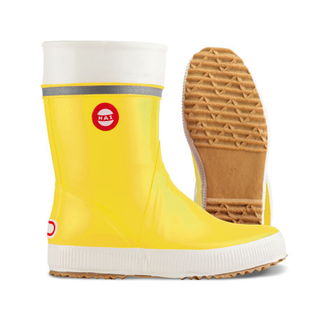 yellow right boot